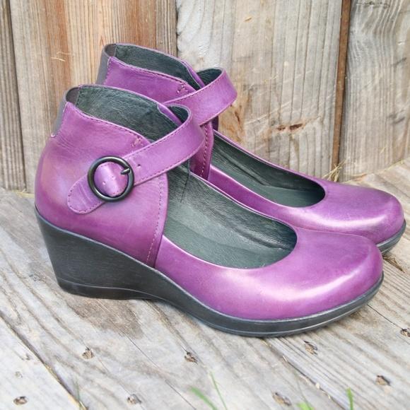 bbb1ba65e4f Dansko Shoes - Dansko Purple Mary Jane Rebel Wedge Pump